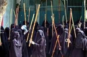 muslimer med käpp