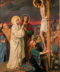 Jesus på korset med kvinnor