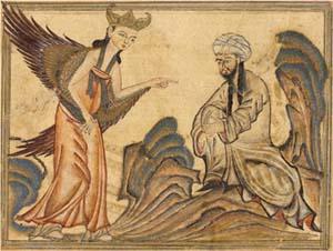 Muhammed och ängel