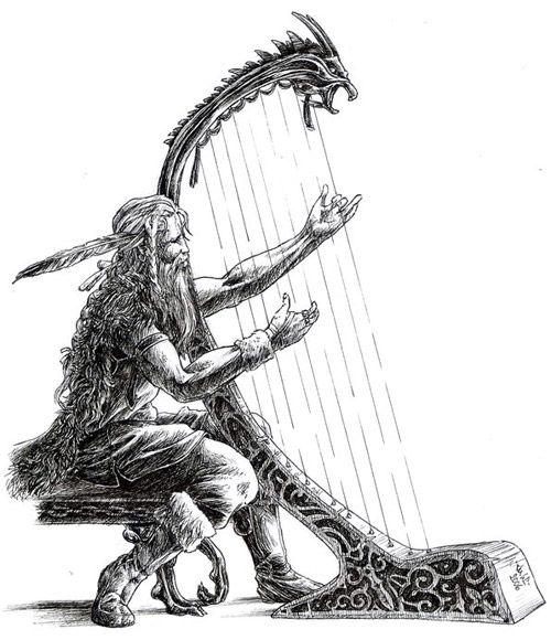 Brage med harpa