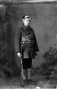 Röd finsk soldat