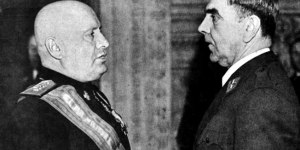 Ante Pavelic´och Benito Mussolini