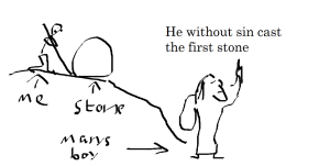 he without sin cast the first stone