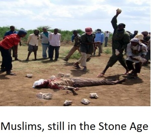 Muslims, still in the Stone Age