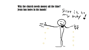 Why the church need money