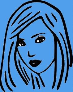 Härn linblå