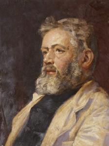 Self portrait as Sea Captain  *oil on canvas,  *60.6 x 50.6 cm