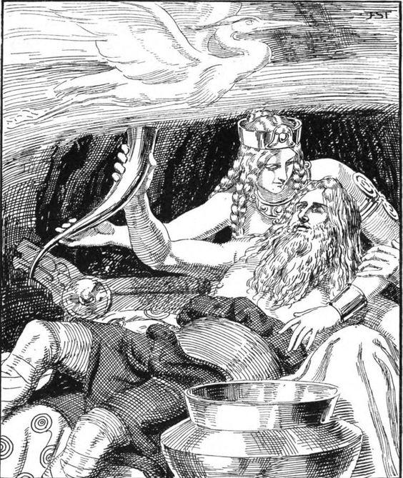 Gunnlöd och Oden